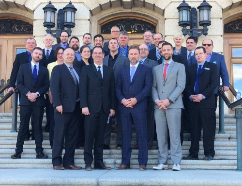 CISC Saskatchewan Region participates in the SK Construction Association's  Day at the Legislature on April 4th in Regina