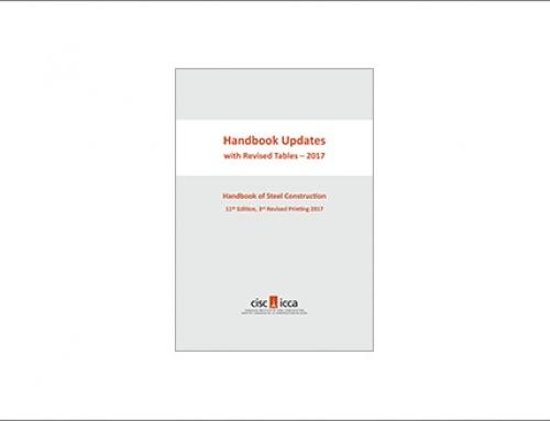 Nouvelles mises à jour du Handbook of Steel Construction avec tableaux révisés – 2017