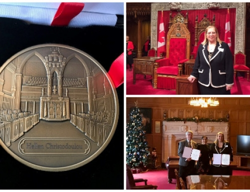 CISC's Quebec Region Manager, Hellen Christodoulou, awarded the Senate 150th Anniversary Medal