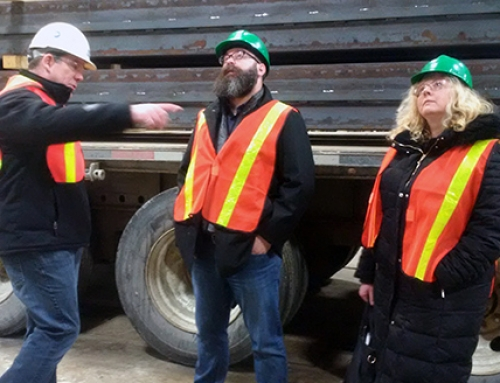 Minister of Alberta Municipal Affairs tours CISC members' fabrication shops to learn more about steel construction industry in AB