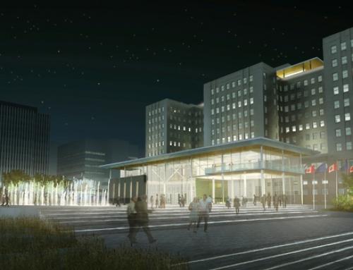 Edmonton federal building, Parkade, and Centennial Plaza