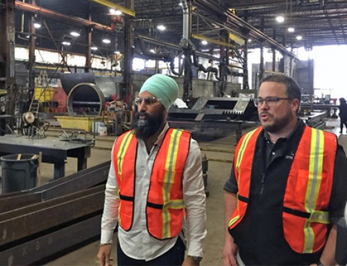"Federal NDP leader gets acquainted with B.C.'s ""strong and vibrant"" steel industry"