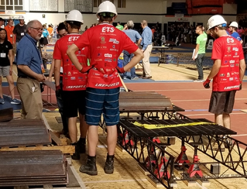 Canadian team ranks third overall in 2018 international steel bridge competition!