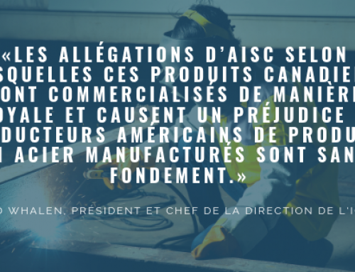 Le canada luttera contre les droits douaniers d'antidumping et compensateurs américains sur les charpentes d'acier fabriquées au Canada