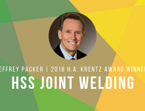 2018 H  A  Krentz Award Recipient Explores Fabrication of Welded