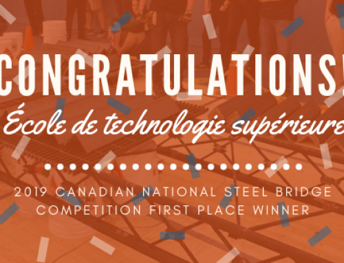 Congratulations to the First Place Winner of the 2019 Canadian National Steel Bridge Competition, École de technologie supérieure!