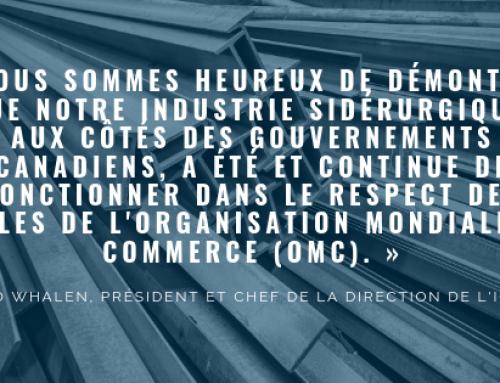 Le Canada ne fera pas face à des droits compensateurs provisoires dans le cas commercial sur l'acier de structure usiné