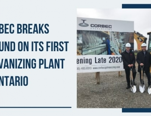 Corbec Breaks Ground on Its First Galvanizing Plant in Ontario