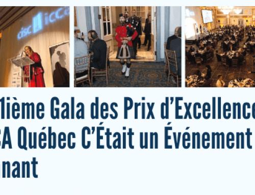 Le 21ième Gala des Prix d'Excellence de l'ICCA Québec C'Était un Événement Étonnant