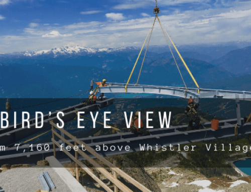 A Bird's Eye View from 7,160 feet above Whistler Village