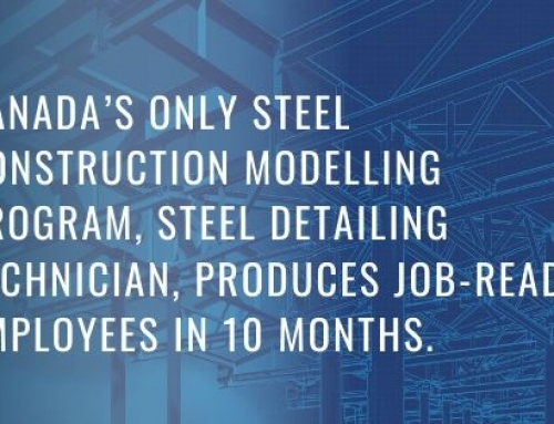 Canada's Only Steel Construction Modelling Program, Steel Detailing Technician, Produces Job-Ready Employees in 10 Months