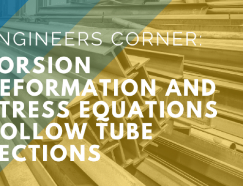 Engineers Corner: Torsion Deformation and Stress Equations – Hollow Tube Sections