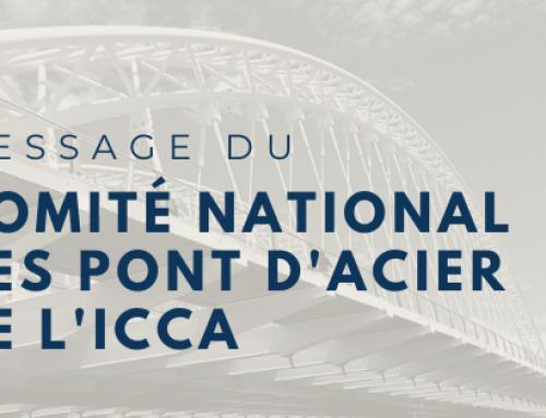 Message du comité national des pont d'acier de L'ICCA