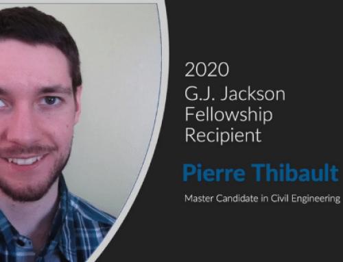 Congrats to the 2020 CISC G.J Jackson Fellowship Recipient, Pierre Thibault