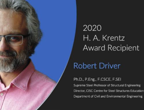 Congrats to the 2020 CISC H.A. Krentz Award Recipient, Robert Driver