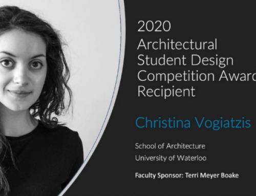 Congrats to the 2020 CISC Architectural Student Design Competition Award Recipient, Christina Vogiatzis